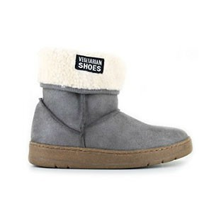 Veganer Damenstiefel | VEGETARIAN SHOES Snug Boot Grey