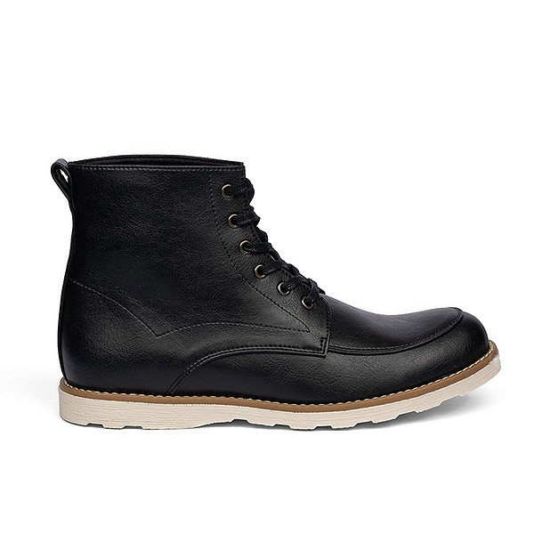 Veganer Schnürstiefel | FAIR Casual Boot Black