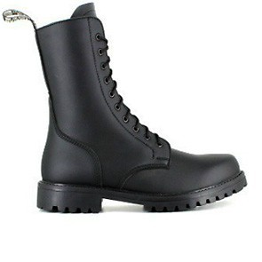 Veganer Schnürstiefel | VEGETARIAN SHOES Combat Boot Black