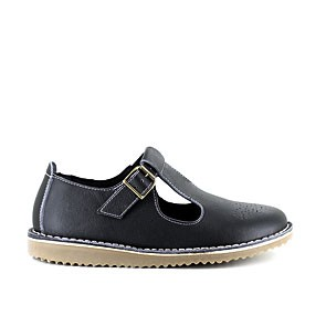 Veganer Damenschuh | VEGETARIAN SHOES T Brogue Black
