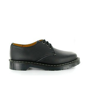 Veganer Schnürschuh | VEGETARIAN SHOES Airseal 3 Eye Shoe Black