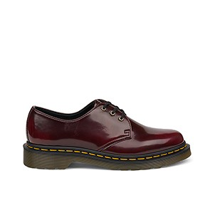 Veganer Schnürschuh | DR. MARTENS 1461 3-Eye Shoe Cherry Red Oxford Rub Off