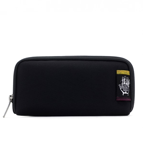 Vegane Brieftasche | ETHNOTEK Chiburi Accordion Wallet Black
