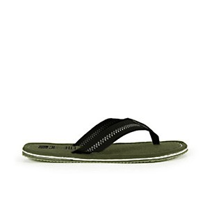 Veganer Zehentrenner | ETHLETIC FairFlips Green/Black