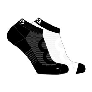 Vegane Socken | LOWA Eightsox Lo Black/White