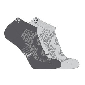 Vegane Socken - Lowa Eightsox Lo Nature Grey/Anthracite