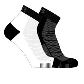 Vegane Socken | LOWA Eightsox Mid Black/White