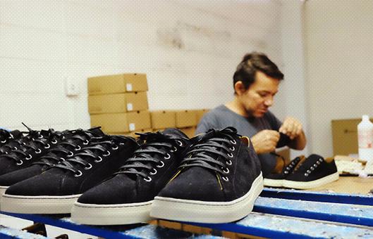 La fabrication d'une chaussure végane
